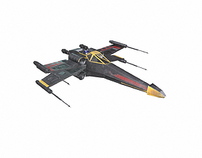 3D model realtime X-wing