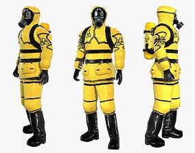 3D asset Man In Protective Hazmat Suit