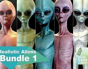 Realistic Aliens Bundle 1 3D asset