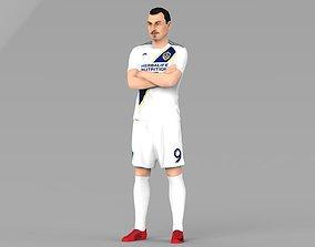 Zlatan Ibrahimovic LA Galaxy full color 3D printing ready