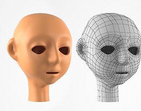 game-ready Cartoon Head Base 3d Model