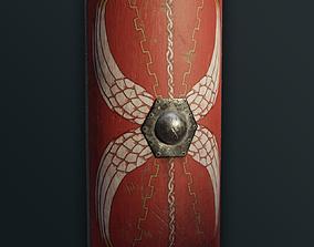 Roman Legionary Shield Scutum 3D asset