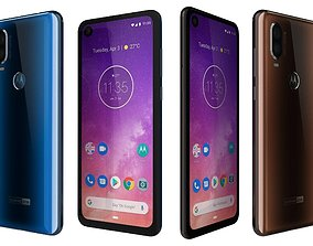 3D model Motorola One Vision Bronze gradient And Sapphire