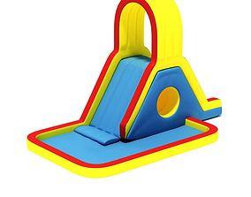 3D Kids Primary Inflatable Slide