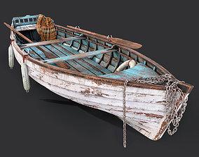 3D model Old boat