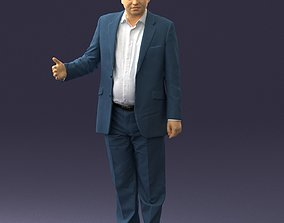 3D model Man in an office suit 0263