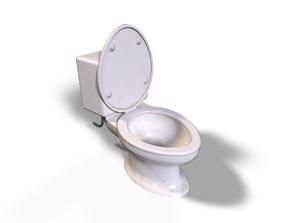 Toilet Bowl 3D model low-poly