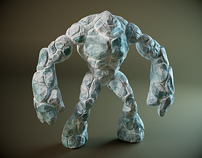 Ice golem PBR 3D model