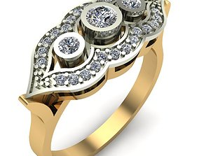 gold jewelry WOMAN RING 3D print model