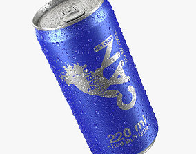 Beverage Can With Water Droplets 220ml Red Bull type 3D