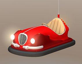 bumper car 3D model rigged