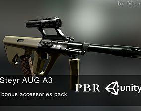 3D asset AUG A3 Austrian assault rifle for FPS