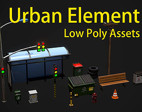 Low Poly City Environment Assets 3D model