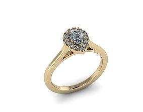 Jewelry hello diamond ring 3D printable model