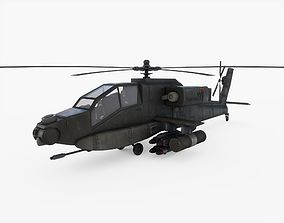 Attack Helicopter with Pilots 3D model
