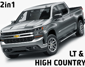 Silverado LT and High Country 2019 3D model