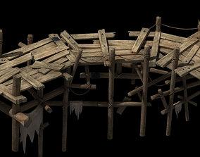 Wooden bridge share 3D