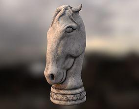 3D asset game-ready Horse Statue
