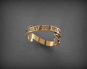 Ring DILIGE ET QUOD VIS FAC 3D printable model