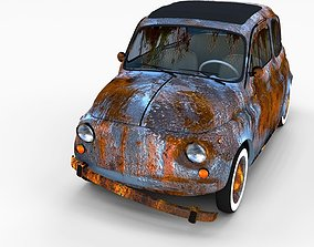 Weathered Fiat 500 Nuova rev 3D
