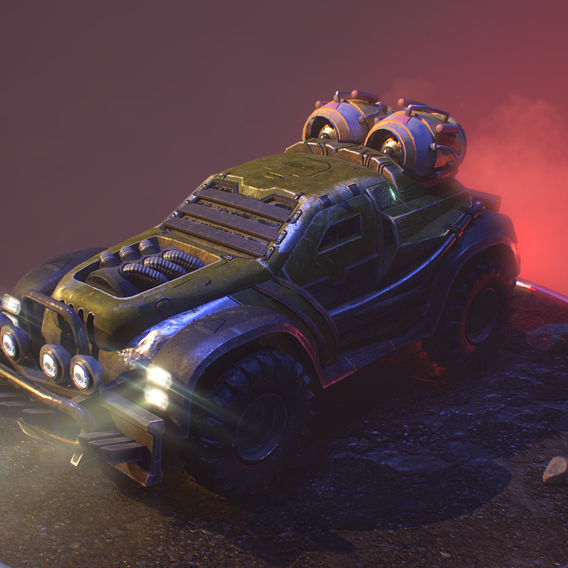 War jeep car game model(PBR)