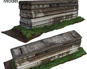 3D asset Ultra realistic Concrete Slab