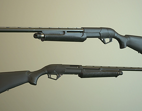 Black Shotgun 3D asset