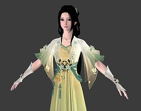 3D asset Ancient Chinese Beauty Lady Cute girl