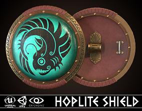 Hoplite Shield Angler 3D asset
