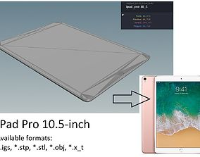 3D model iPad Pro 10-5 inch - original dimensions