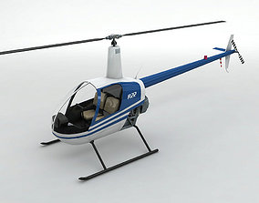 3D asset Robinson R22 Helicopter