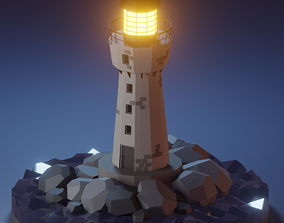 3D model Lighthouse - Lowpoly