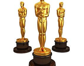 3d model Oscar statuette award