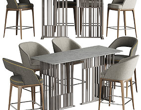 3D model Pace Loom Chair Solo Table Bar