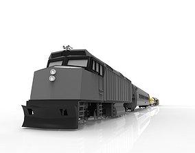 Low Poly Long Train FBX Gamer or Render 3D asset