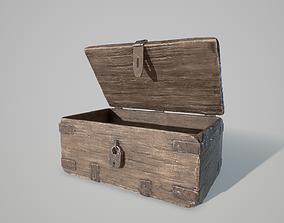 PBR Wooden Chest 3D asset
