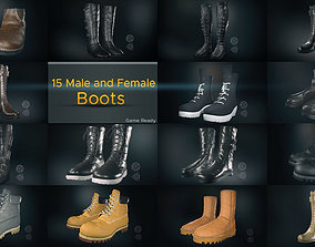 3D model 15 Male and Female Boots