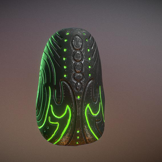 Alien Rock Glowing + Non Glowing Version