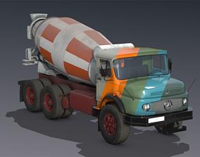 3D model Mercedes L2624 Cement Truck