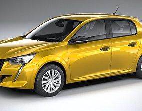 3D Peugeot 208 basic 2020