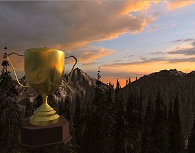 3D model VR / AR ready Trophy