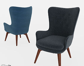 Niels Wing Chair by West Elm 3D
