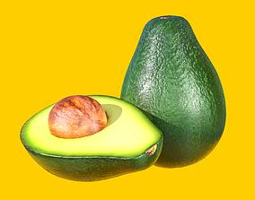 Photorealistic Realtime Avocado 3D model game-ready