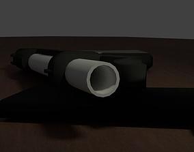 M9 pistol LOW-POLY 3D asset