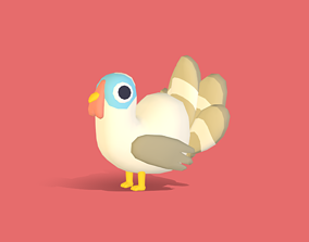 3D asset Tami the Turkey - Quirky Series