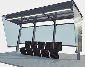 3D Bus Station 3