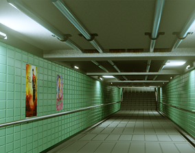 low-poly Subway Under pass - Low poly - Game ready model