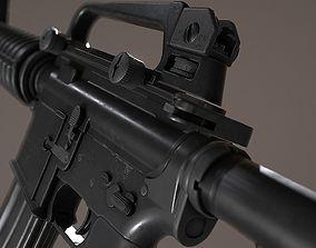 3D model M4A1 - AR15 Assault Rifle