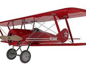 3D model Thomas Morse Airplane
