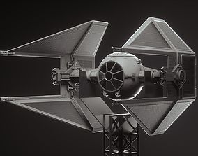 Tie fighter toy obiwan 3D